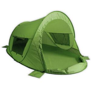 Pop Up Strandmuschel mit UV Schutz 80 – Zack Premium Family grün von outdoorer