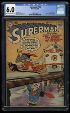 Superman #123 CGC FN 6.0 Light Tan to Off White 1st Supergirl tryout!