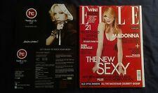 MADONNA ELLE MAGAZINE APRIL 2007 RARE NEW + OFFICIAL CARD