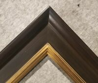 """4.75"""" WIDE Fancy Black With Gold Liner Oil Painting Wood Picture Frame 20A 8x10"""