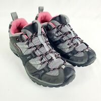 Merrell Siren Sport 2 Hiking Shoes Womens Size 6.5 Gray Black Pink Trail J54862