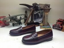 G.H. BASS LONDON BUR WEEJUNS BURGUNDY LEATHER SLIP ON PENNY LOAFER SHOES 7.5 M