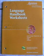 Holt Language Handbook Worksheets.Course 5/5th Grammar workbook,gr.11/11th, NEW