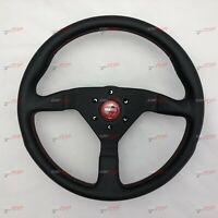 MOMO MONTECARLO  LEATHER STEERING WHEEL MONTE CARLO RED 350MM 11111785BKREL