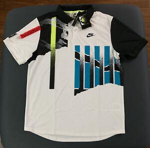 Nike Challenge Court Advantage Tennis Polo Shirt Agassi Men's Large CK9793-101
