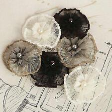 Prima Marketing Inc: Vibrato Flower Collection: Black, White & Grey