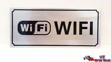 WIFI Stick On Sign Office Shop Motel Hotel Warning Sign Aluminum Alloy OZ