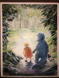 """Limited Edition Ron Rodecker Print 8.5X 11"""" The Meadow Beyond 160/1000 Signed"""