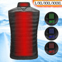 USB Electric Heated Warm Vest Men Women Winter Rechargeable Heating Coat