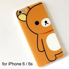 Rilakkuma Light Brown Transparent Soft Silicone Back Cover Case iPhone 6 / 6s
