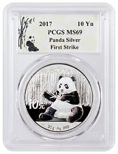 2017 China 10 Yuan 30g Silver Panda PCGS MS69 FS Panda Label SKU43863