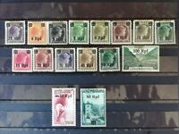 German WWII Occ. in Luxemburg 1940: 2 complete series of stamps surcharged, MH