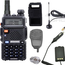 2set xUV-5R walkie talkie +Speaker/MIC + Case + Earpiece+ ADAPTOR +Car ANTENNA