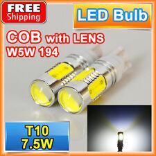 2X High Power COB T10 W5W 7.5W LED White Projector Backup Reverse LED Lights 921