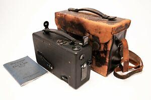 Vintage Kodak Cine Kodak Model B 16mm Camera f6.5 Lens, Original Case & Manual