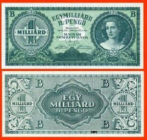 Hungary 1 Milliarde Pengo 1945.  UNC - Reproductions
