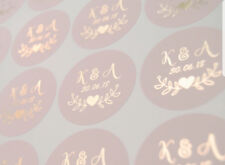 Wedding stickers personalised round labels party favour foil envelope seals D7