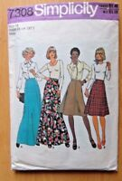 SIMPLICITY SEWING PATTERN NO. 7308 LADIES SKIRTS SIZE 16 VINTAGE