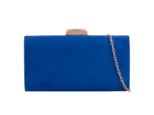 Suede New Evening box Clutch Bags Prom Party Wedding 17 Colour TL2421