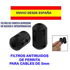 FILTRO ANTIRUIDO SUPRESOR RUIDOS FERRITA 5mm NOISE FILTER AUDIO VIDEO MÚSICA