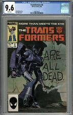 Transformers #5 CGC 9.6 NM+ WHITE PAGES