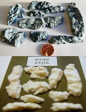 9 X Detailed Rock Plastic Features for Warhammer Model Train Scenery