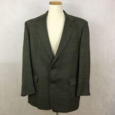 Burberry Vintage Men's Sport Coat Blazer Jacket - Beige / Black - 43R - Wool