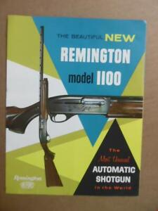 c.1960 Remington Model 1100 Automatic Shotgun Catalog Brochure Vintage Original