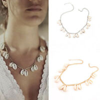 1PC Boho Beach Bohemian Sea Shell Pendant Chain Choker Necklace Fashion Jewelry