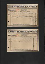 SEELZE, Rechnung 1936, Chemische Fabrik Jonassen