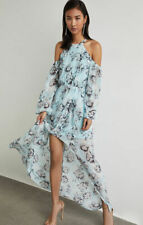 NWT BCBG MAXAZRIA Isabele Floral-Print Maxi Dress Gown LIGHT AZURE Size 4