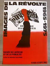 RAZZIA Affiche Images de la révolte 65-75  MAI 68 Politique COURBOULEIX Dénériaz