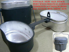 VTG NEW OLD STOCK POST WWII WEST GERMAN ARMY  MILITARY MESS KIT LUNCH BOX 60'S 1