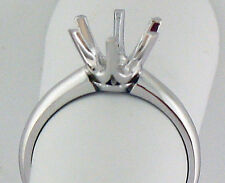 1.5CT SOLITAIRE RING MOUNTING 14K WHITE GOLD FOR 7.5MM ROUND STONE