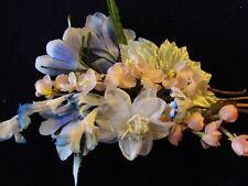 "Vintage Millinery Flower Collection Blue Pink 3/4- 3"" German Japan H3077"