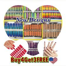 Color Nail Polish Strips Buy 4 Get 3 FREE U.S Seller Valentines Glitters Solid