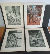 Early 1900s Hy S Watson Outdoor Print Lot from NYS Forest Fish & Game Reports