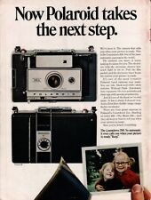 1969 Polaroid Countdown 350 Automatic Land Camera Vintage Color Photo Print Ad
