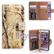 Bcov Camo Tree 9 Card Slot Wallet Leather Cover Case For iPhone 8 Plus