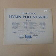 organ TWENTY FOUR HYMN VOLUNTARIES, Lorenz Publ.