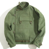 Sweden Men Coat driver jacket Worker Cotton Loose motorcycle Army Green Military