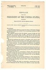 President Grover Cleveland Re: William H. Weaver Disability Pension Request