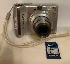CANON PowerShot A550 7.1 MP Digital Camera-Tested & Working + 1 GB SD Card