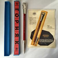 Collectible pencils Vintage wood pencil Russian pen Soviet original box USSR set