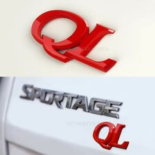 "Detailpart ""QL"" Car 3D Logo Emblem Rose Red for KIA Sportage 2016"