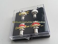 4x CMC 805-CUR-RH Red Copper Rhodium Plated RCA Terminal Socket Chassis Female