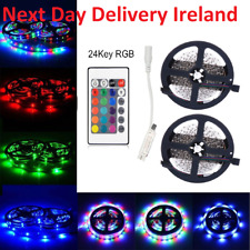 10M 2x5M DIY 3528 SMD RGB LED Strip Lights Lamp + 24Key IR Remote Controller
