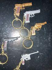 Lot Of Five Gun Keychians Look Real Mini