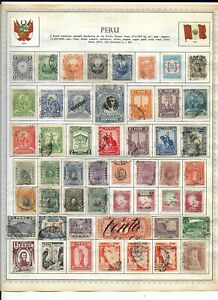 Peru 4 Pages Unpicked Stamps