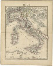 Antique Map of Italy by Petri (c.1873)